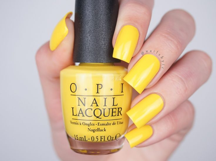 Exotic Birds Do Not Tweet swatch OPI Fiji collection swatches review spring summer 2017 nail polish yellow