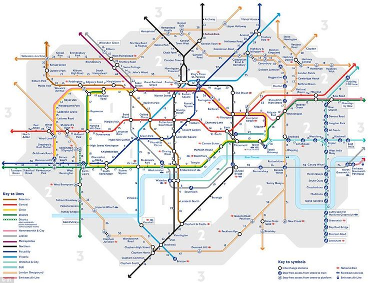 Tube map showing walking times between stations.