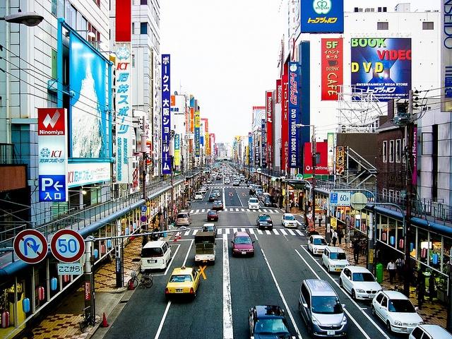 日本橋電気街(大阪・ミナミ) Nipponbashi electronic street in Minami, Osaka, Japan