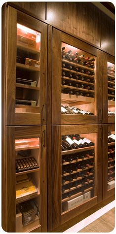 Bad ass cigar humidor and wine lockers