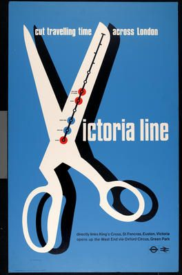 By Tom Eckersley (1914-1997),  1968, London Transport posters  Collection. Eckersley Archive: University of the Arts London