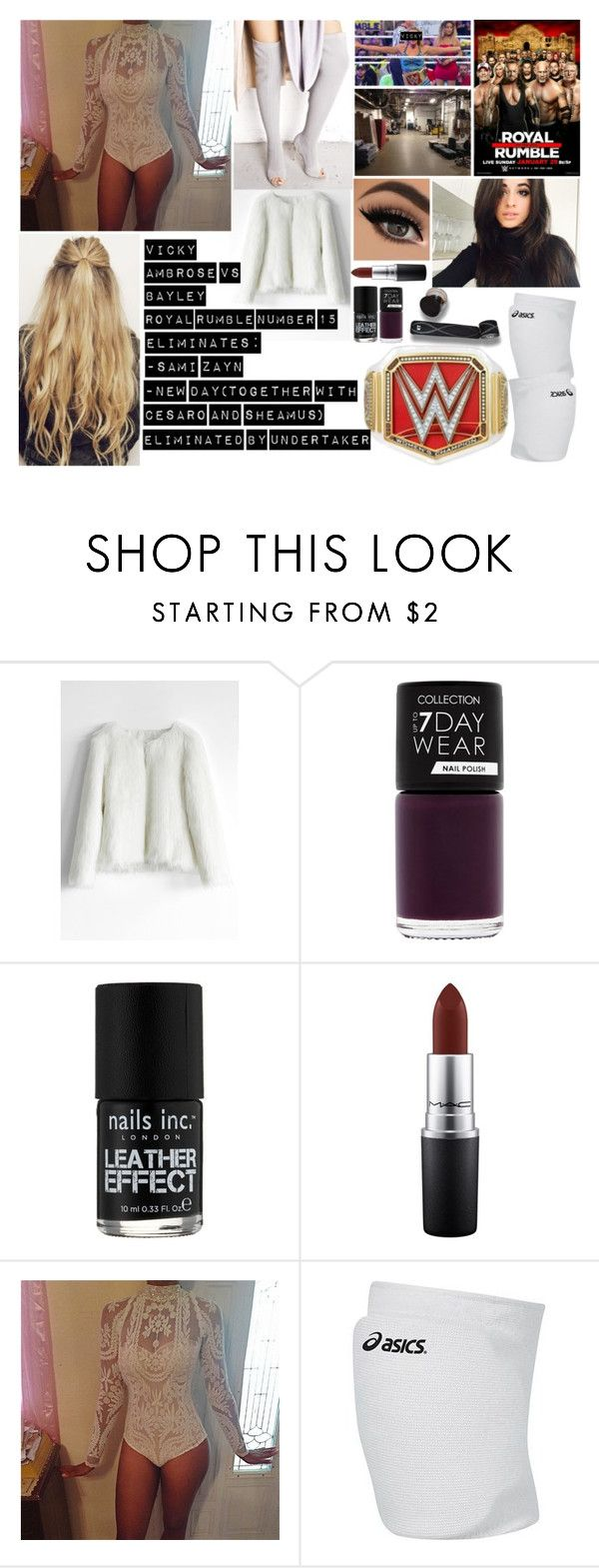 """Bez tytułu #1099"" by kereneza ❤ liked on Polyvore featuring Chicwish, Nails Inc., MAC Cosmetics, WWE, Go Under, Asics and Cape Robbin"