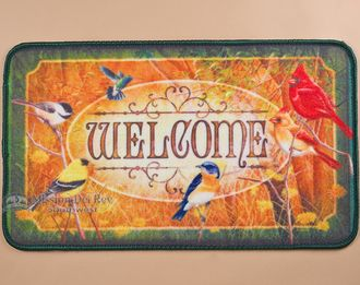 "Southwestern Door Mat 18""""x30"""" -Song Birds (dm20)"