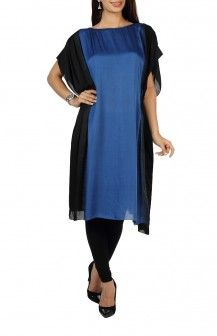Blue & Black Kaftan By Zubair Kirmani Rs.8650