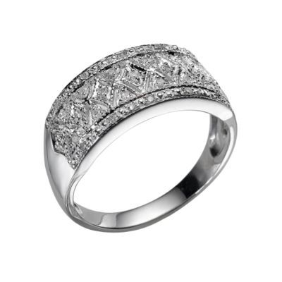 9ct white gold diamond ring - Ernest Jones