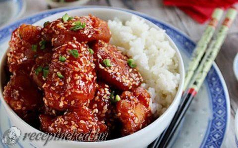 Kínai szezámmagos csirke recept fotóval