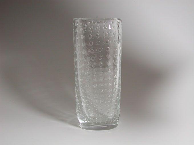 Retro Modern Glass vase - Hermann Bongard for Hadeland
