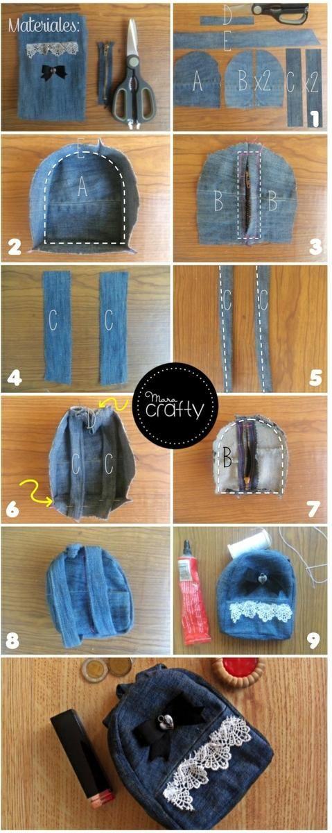 Monedero en forma de mochila