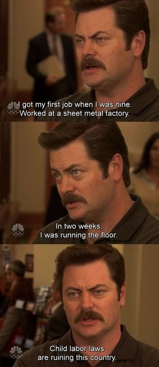 Ron Swanson knows what's really ruining America