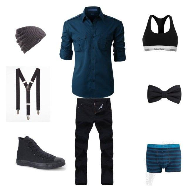 """My style"" by rmgramirez on Polyvore featuring Converse, LE3NO, Express, Burton, MANGO MAN, Calvin Klein, men's fashion and menswear"