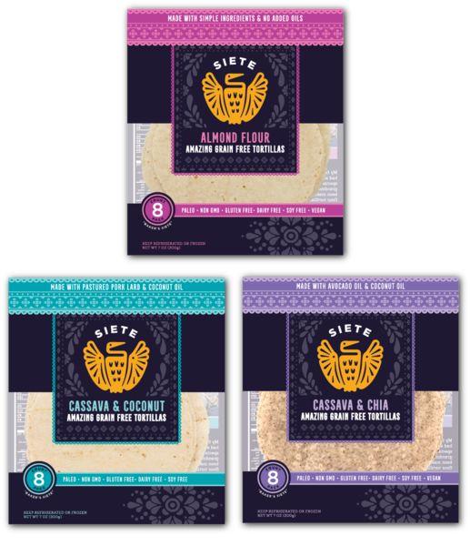 Tortillas: Mix Pack: 2 Almond Flour + 2 Cassava & Coconut + 2 Cassava & Chia