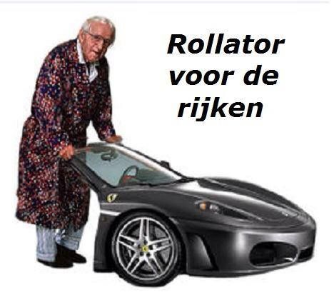 Rollator for the rich