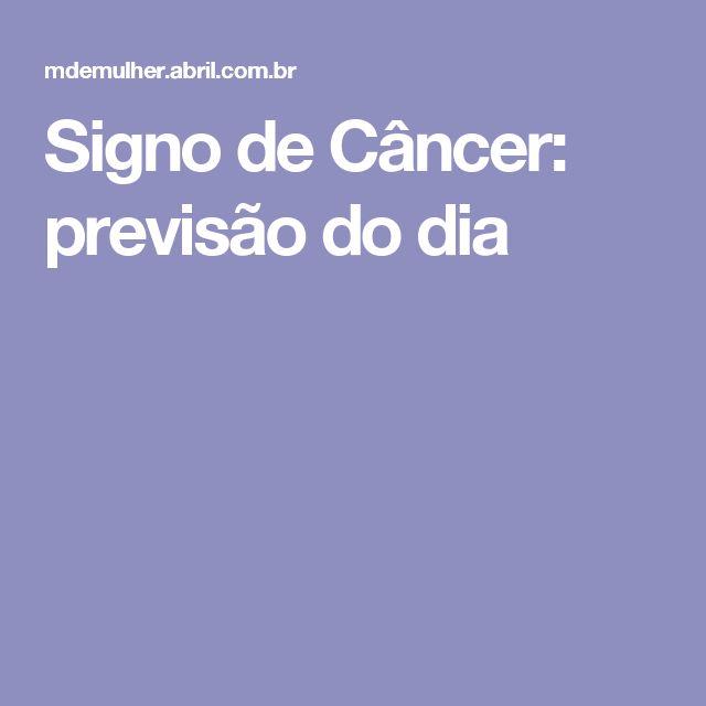 Signo de Câncer: previsão do dia