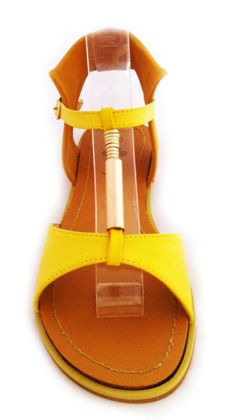 Named after Aria from Game of Thrones this little yellow sandal is so cute! Available in blue and yellow from www.kmjshoes.com.au