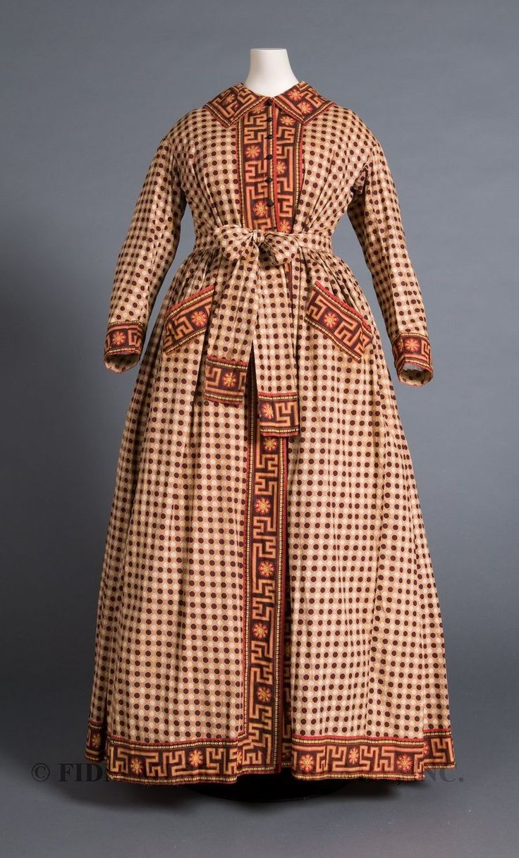 Wrapper, cotton, 1863-65. FIDM Museum: Museums Purcha, 1860 S, 19Th Century, 1863 1865, Cw Fashion, Fidm Museums, 1850 1860, 1860 1870, 1860S Wrappers