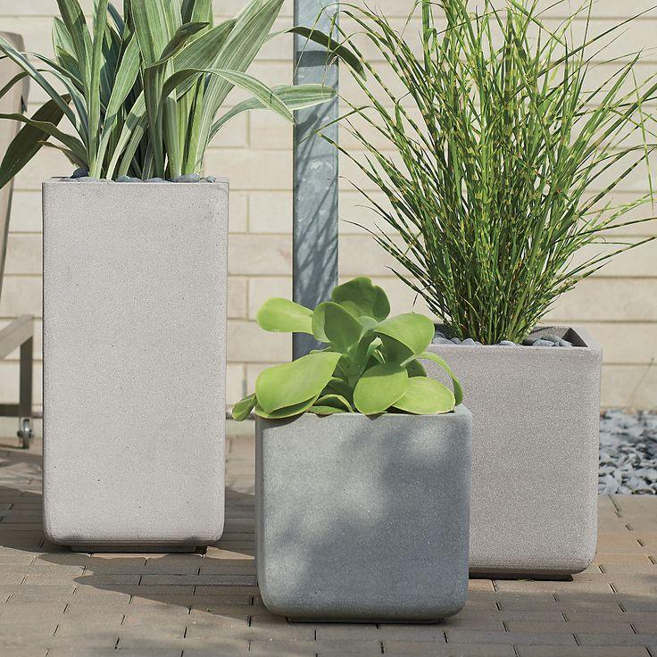 Square planters Crate & Barrel