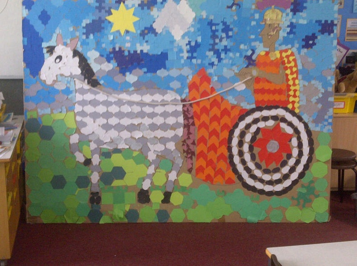 Roman Chariot mosaic by Year 3