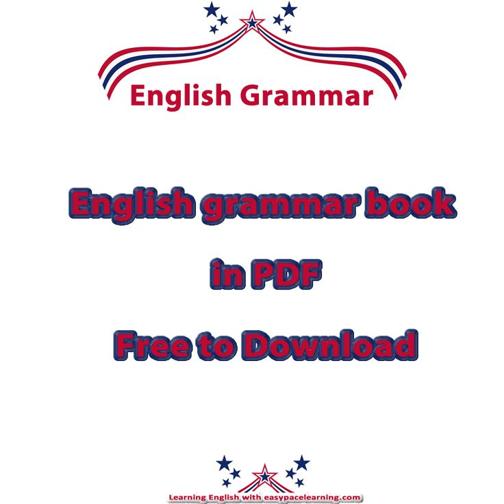 Download the English grammar book in PDF for free