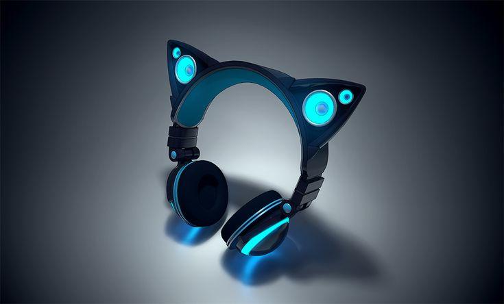Cat Ear Headphones Bring Beats With Purrrfect Feline Flair -  #beats #cat…