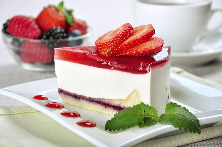 Piece of strawberry cheesecake :)