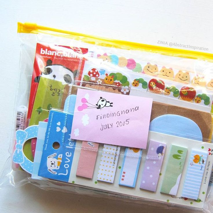 """""""Keeping all my planner goodies from @findingnanashop in this little plastic pouch that my planner kit came in. It can seriously fit so much.…"""""""