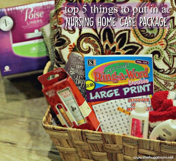 Top 5 Things To Put In A Care Package For Nursing Homes #MyCareGivingStory - #ad