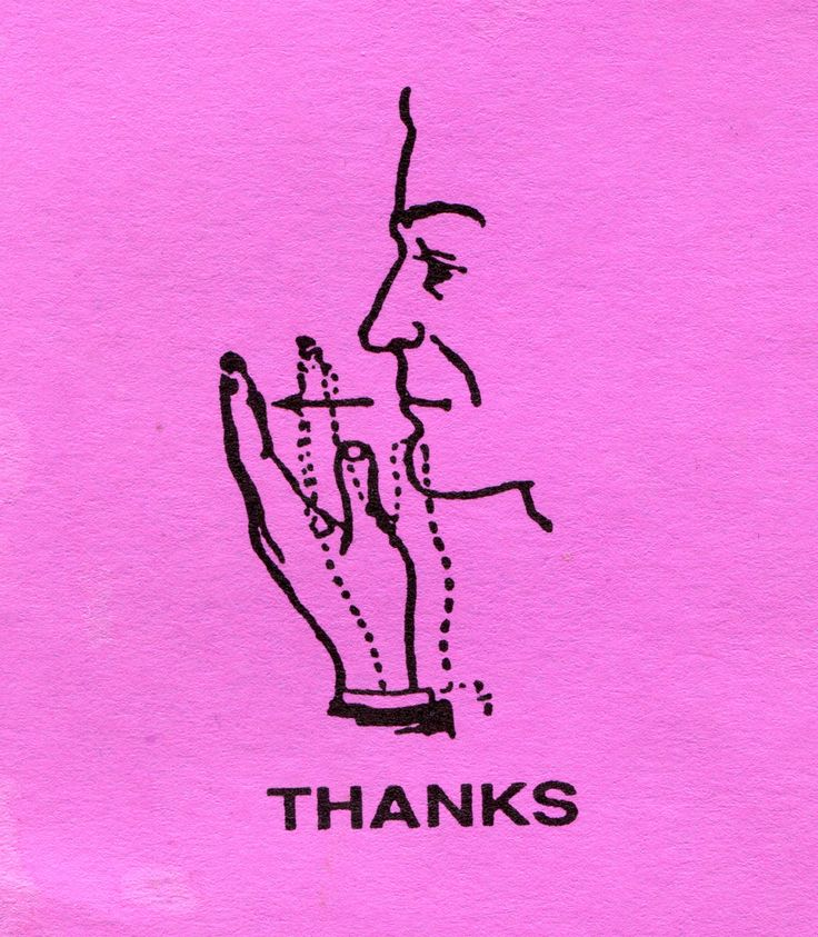 write asl sign for thank