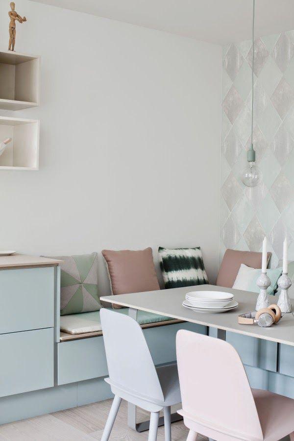 A Danish kitchen in pretty pastels
