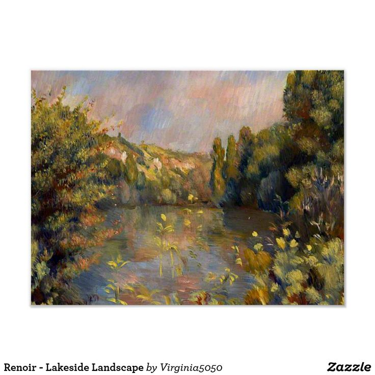 Renoir - Lakeside Landscape Poster