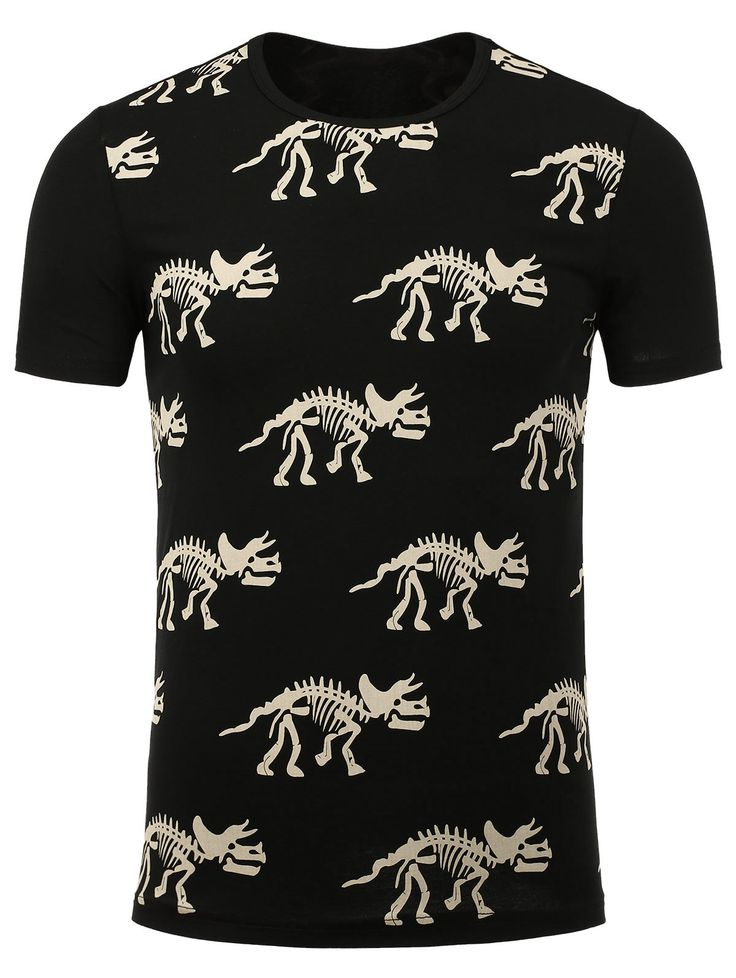 Dinosaur Skeleton Print Tee #CLICK! #clothing, #shoes, #jewelry, #women, #men, #hats