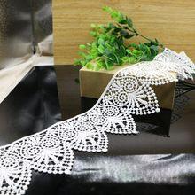 2 Ярдов 8 см Костюм Декор Отделка Вышивкой Шить DIY Craft Off-белый Кружевной Отделкой Новый M32016(China (Mainland))