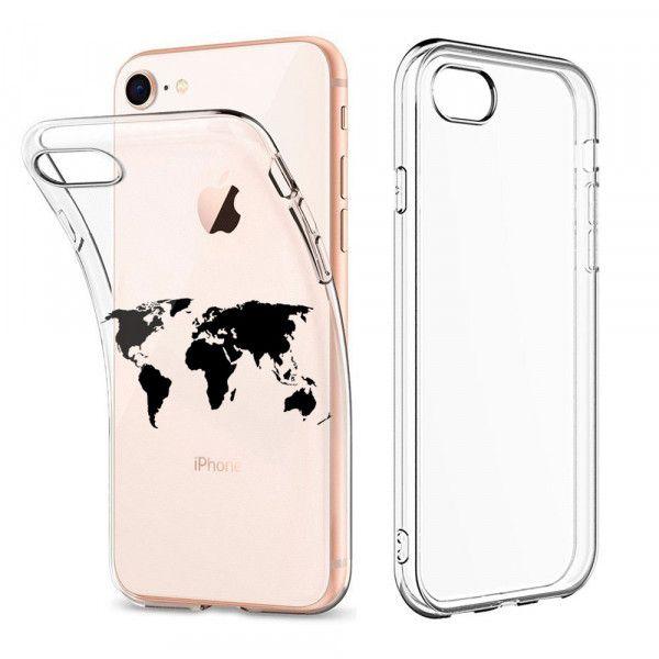 Yw F Iphone 8 7 Tpu Silikon Schutzhulle Weltkarte Iphone Hulle Iphone Schutzhulle