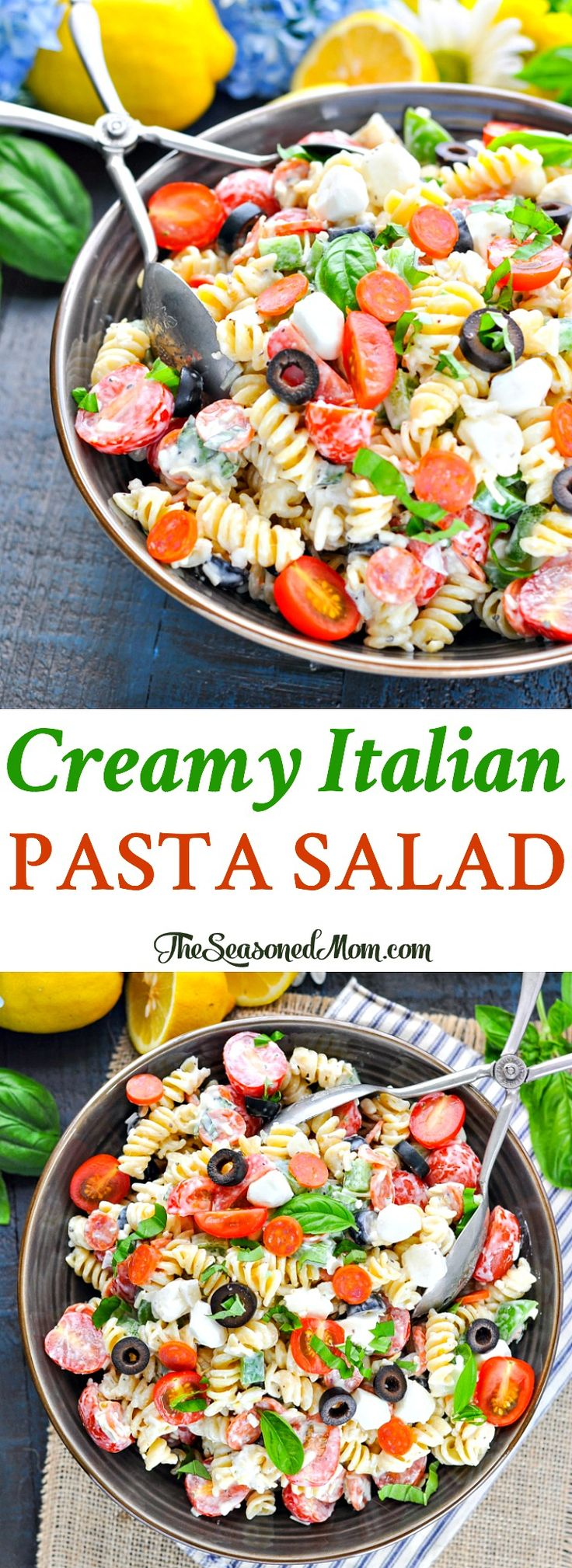 Creamy Italian Pasta Salad | Pasta Salad Recipes | Pasta Recipes | Pasta Salad with Italian Dressing | Easy Dinner Recipes | Potluck Recipes | Salad Recipes | Salads for Parties #ad