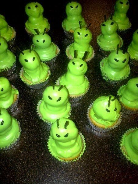 Alien Cupcakes!