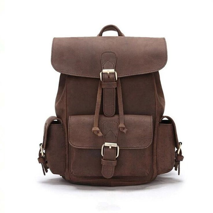 YISHIDU 100%Genuine Leather Women Backpacks Crazy Horse Cowhide School Gril Strap Daily Retro Backpack Top Quality Handcraft Bag