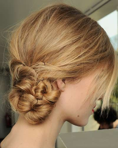 low chignons are always classy + lovely