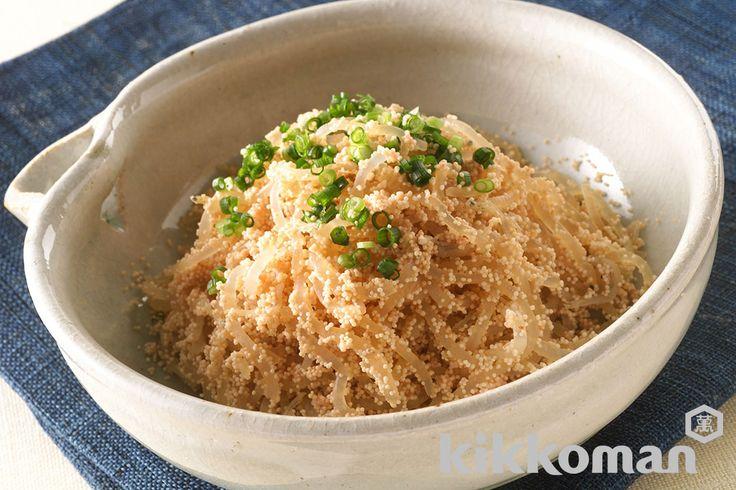 しらたきのたらこ和えのレシピをご紹介。たらこ・明太子とこんにゃく類を使って簡単お手軽に調理できます。炒め物や煮物から揚げ物まで様々な献立レシピを簡単検索!お弁当や健康(ダイエット)レシピもご用意しています。キッコーマンのレシピサイト【ホームクッキング】