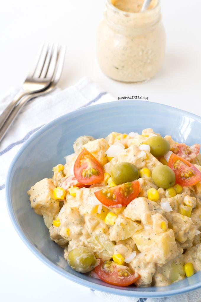 Vegan potato salad with ranch dressing | minimaleats.com