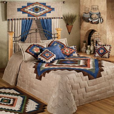 Southwestern Quilt Designs and Patterns | Phoenix Grande Bedspread