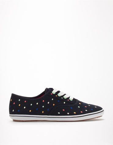 Bershka Latvia - BSK multicoloured polka dot sneakers
