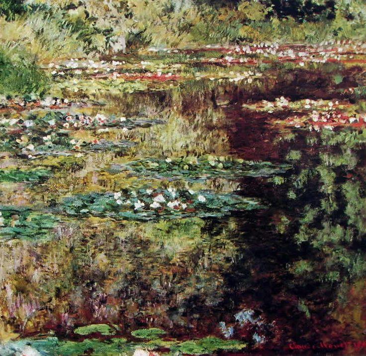 """""""Lo stagno delle ninfee"""", Claude Monet, 1904. Olio su tela. Musèe d'Orsay, Parigi."""