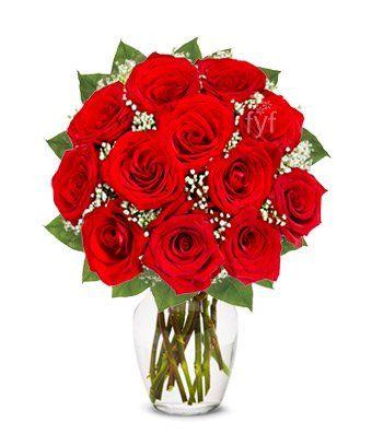 Flowers - One Dozen Long Stemmed Red... $24.99