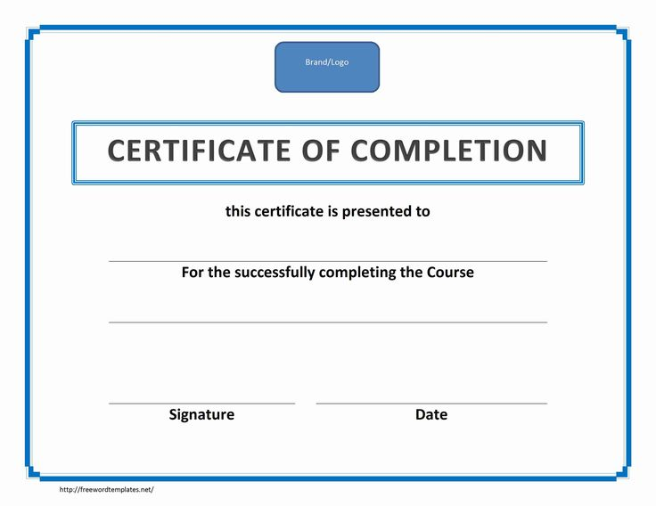The 25+ Best Certificate Of Completion Template Ideas On Pinterest   Free  Printable Perfect Attendance  Certificate Of Completion Template Free