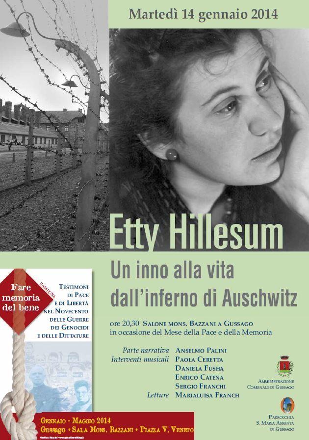 Fare memoria del bene: martedì primo appuntamento dedicato a Etty Hillesum - http://www.gussagonews.it/fare-memoria-del-bene-etty-hillesum-gennaio-2014-gussago/