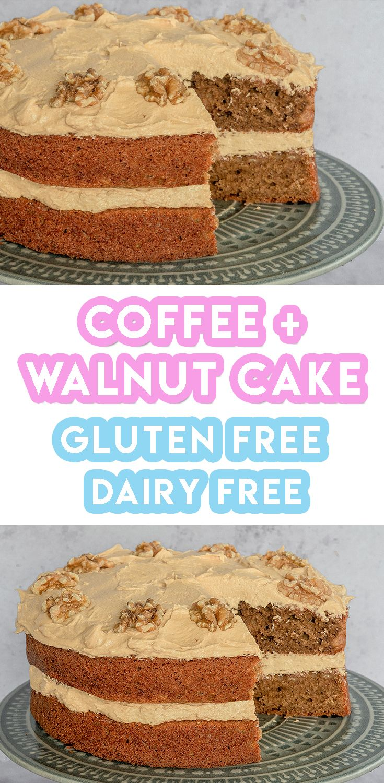 Gluten Free Coffee and Walnut Cake Recipe (dairy free)