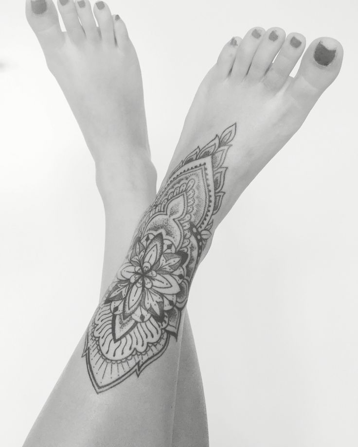Mandala/ mehndi inspired foottattoo Le Nou Tattoo                                                                                                                                                      More