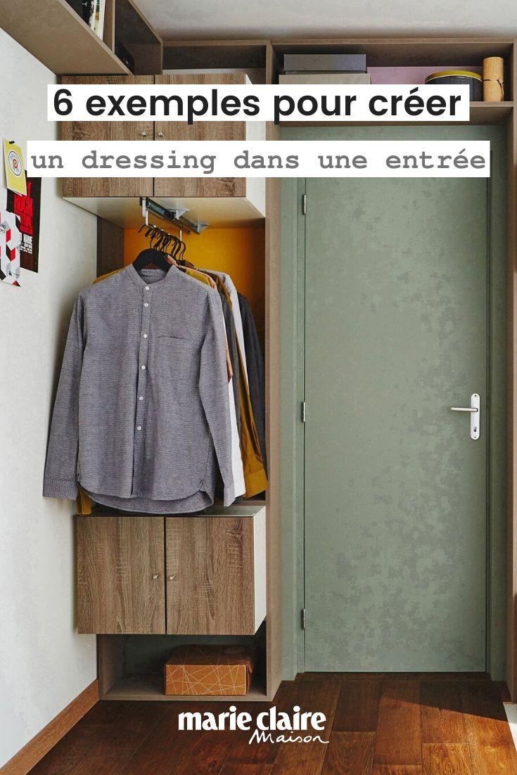 6 Exemples Pour Creer Un Dressing Dans Une Entree En 2020 Amenagement Placard Dressing Placard Entree