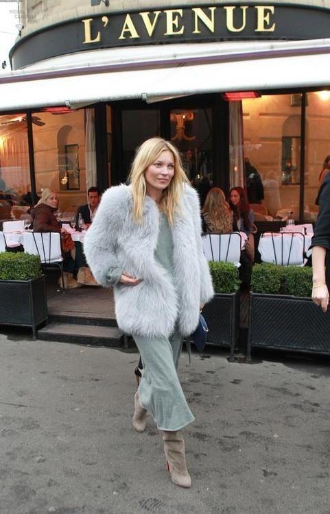 Kate Moss leaving L'Avene Restaurant in Paris ᘡղbᘠ