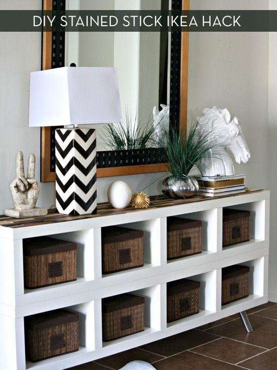 DIY Stained Stick Ikea Hack - http://diyideas4home.com/2014/02/diy-stained-stick-ikea-hack/
