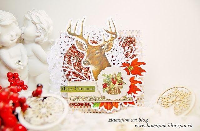 hamajum art blog: Новогодний ретро Олень)